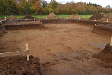 Uitgraven bouw woonhuis te Tilligte
