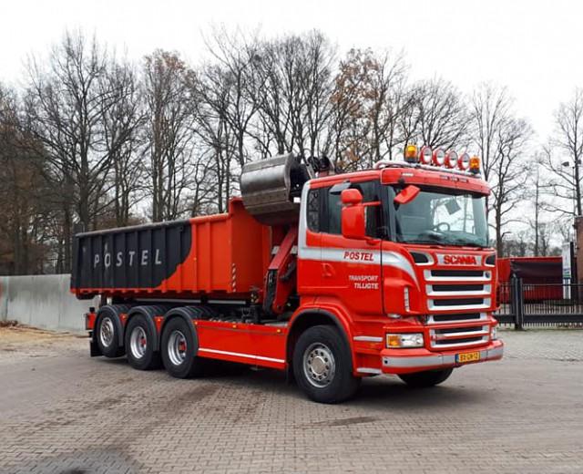 Nieuw in 2019: Scania 8x4 met laadkraan en haakarm